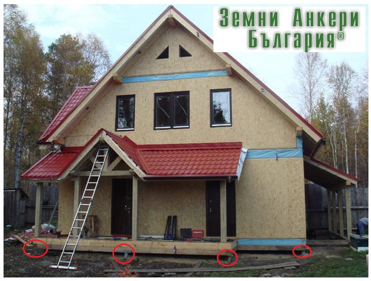 Фундиране на дървена къща